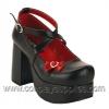 Abbey-03 Black Faux Leather